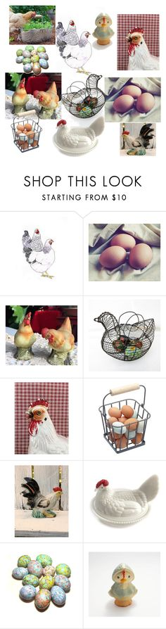 """""""You Big Chicken!"""" by plumsandhoneyvintage ❤ liked on Polyvore featuring interior, interiors, interior design, home, home decor, interior decorating and vintage"""