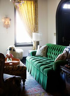 Love this sheep and the green color for the sofa (not so much the shape)