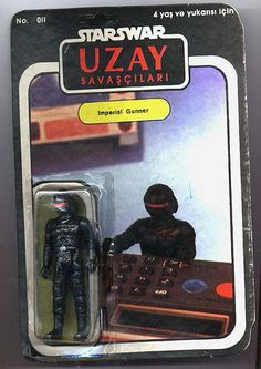 Turkish Star Wars action figures are gloriously awful.  This Imperial Gunner is all set to destroy a planet... by figuring out the square root of something on a 1979 calculator, apparently.
