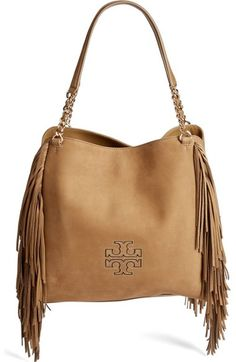 TORY BURCH Harper Fringe Leather Tote. #toryburch #bags #shoulder bags #hand bags #leather #tote #lining #