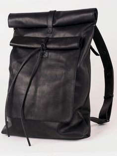 backpacks, black bag, leather backpack, style, accessori, black leather, bagpack, asyamalbershtein, leather bags
