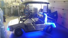 Awesome #BacktotheFuture DeLorean golf cart built by http://www.dualdivisions.com  commissioned by Red Deer College.