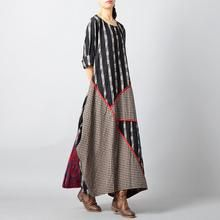 top quality black Plaid autumn plus size clothing O neck baggy dresses traveling clothing vintage patchwork dresses - Kleidung Ideen Baggy Dresses, Backless Maxi Dresses, Plus Size Maxi Dresses, Types Of Dresses, Plus Size Outfits, Dresses Dresses, Boho Fashion, Fashion Outfits, Womens Fashion