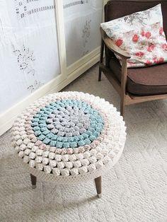 stool crochet cover pattern