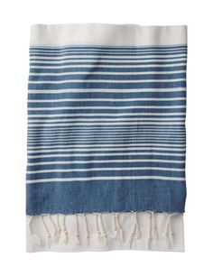turkish towel blue (love the blue and the stripes)