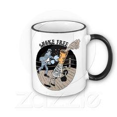 Smoke Free. Kicking butt! (mugs)