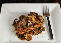Balsamic Chicken with Mushrooms. Low calorie Weight Watcher recipe.