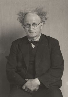 Portrait of August Sander after His Nap; August Sander (German, 1876 - about Gelatin silver print; August Sander, Photographer Self Portrait, Portrait Photographers, Call Of Cthulhu, Vintage Photographs, Vintage Photos, Vintage Portrait, Classic Portraits, Getty Museum