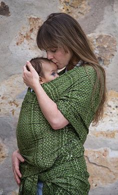 Get a little closer with a hand-woven baby wrap. #etsyfinds