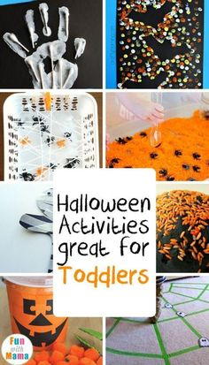 Super fun and easy activities to inspire toddlers to have an exciting Halloween! via halloween activities slime, halloween activities for preschoolers, halloween activities for graders Theme Halloween, Halloween Crafts For Kids, Holidays Halloween, Diy Halloween, Childrens Halloween Party, Halloween Labels, Halloween Cookies, Halloween Skull, Vintage Halloween