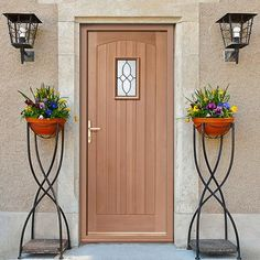 Cottage External Mahogany Door with Bevelled style Tri Glazed