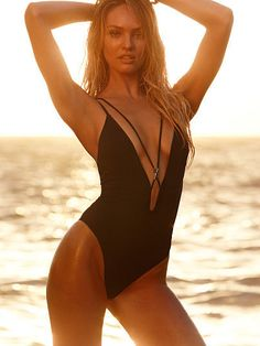 Very Sexy Double-strap Plunge One-piece