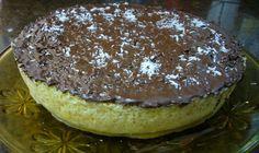 Tarta de coco y chocolate en microondas