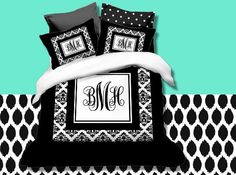 Hey, I found this really awesome Etsy listing at https://www.etsy.com/listing/193678648/custom-monogrammed-duvet-cover-set