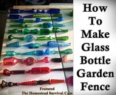 The Homestead Survival | How To Make Glass Bottle Garden Fence | Homesteading - Gardening - DIY Project