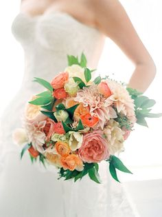 Blush Bouquet with Pops of Green | Brides.com