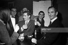 1961, Gala opening of the Ronnie Scott Club, Jazz musician Ronnie Scott is pictured at the bar.