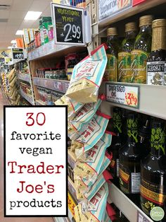 There's always something new to discover at Trader Joe's! Here are 30 of my favorite vegan products that are winning a spot in my cart right now. Plus, a printable list to take with you on your next grocery store run. Trader Joe's, Trader Joes Vegan, Trader Joes Food, Vitamin B12, Vegan Foods, Vegan Vegetarian, Vegan Recipes, Vegan Apps, Whole Foods Vegan