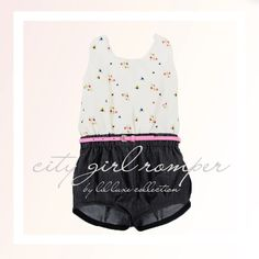 City Girl Romper modern pdf sewing pattern with sunsuit, cuffed shorts, trouser options. bonus swing top pattern and romper separates by lilluxecollection on Etsy https://www.etsy.com/au/listing/234028976/city-girl-romper-modern-pdf-sewing