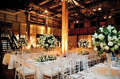 Love this wedding set up at Simmer on the Bay - a hidden gem overlooking the beautiful water of Sydney Harbour with a New York warehouse feel!