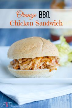 Orange BBQ Chicken Sandwich. A simple weeknight dinner that is bursting with flavour and full of clean eating ingredients! | TheFitHousewife.com