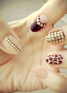 Fashion Metallic Acrylic Nails And Tips - Milanoo.com #nail
