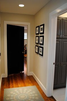 Black interior doors- Makes a house look more expensive and experts say that this raises the price of your house!