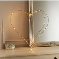 Light Up Glitz Wire Heart Sign. Add some extra sparkle to your home with this stunning light up glitz wire heart sign. Requires 3 x AA batteries.
