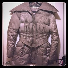 Kenneth Cole Winter Coat Belted Gray Down Coat From Kenneth Cole. Zipper and snap closure, super warm and perfect for the cold weather! Only worn a few times and is in excellent condition. Kenneth Cole Jackets & Coats Puffers