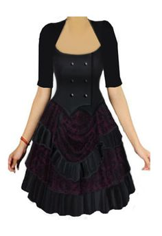 Steampunk Dress - I like this for a regular everyday dress