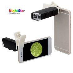 60X-100X Optical Zoom Mobile Phone LED Microscope Lens with Universal Clamp //Price: $5.47//     #onlineshop