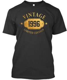 Vintage Limited 1996 22 years old 22nd Gold Birthday Gift T Shirt