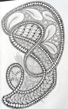zentangles 050 | von The Adventures of Dropstitchknitter