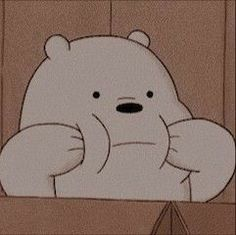 cartoon : we bare bears character : ice bear Cartoon Wallpaper Iphone, Bear Wallpaper, Cute Cartoon Wallpapers, Disney Wallpaper, Animes Wallpapers, Vintage Wallpapers, Kawaii Wallpaper, Cartoon Cartoon, Tumblr Cartoon