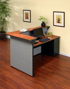 Back view of a receptionist #desk from Total Office Interiors