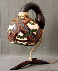 Exotic Gourd Lamps by Calabarte