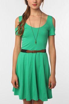 Sparkle & Fade Knit Cold Shoulder Dress Online Only
