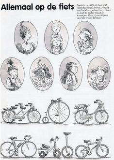 fietsen associëren met persoon