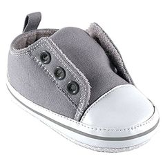 Luvable Friends Laceless Sneaker, Gray, 6-12 months Luvable Friends. Fashion for babies. Amazing must have fall 2015.