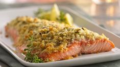 Lemon & Parmesan Crusted Salmon~ Now you can make crusted salmon that tastes like it's from a fine seafood restaurant!