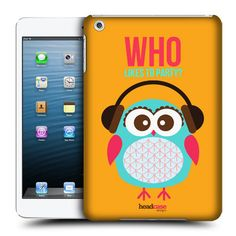 HEAD CASE PARTY LITTLE OWL KAWAII DESIGN BACK CASE COVER FOR APPLE iPAD MINI