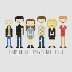 Empire Records Cross Stitch Pattern by YouMakeMeSewHappy on Etsy, $3.99