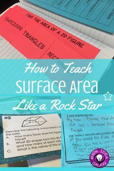 How to Teach Surface Area Like a Rock Star Math Teacher, Math Classroom, Teaching Math, Math Math, Future Classroom, Kindergarten Math, Teaching Tools, Teacher Stuff, Maths