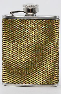 The Mini Drinking Flask in Gold Glitter (3 fl. Oz.) by Wild Eye Designs #MissKL #WinYourPin