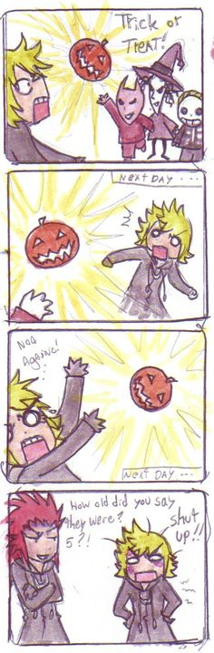 This happened about 100 times during 358/2 Days, just saying. Poor Roxas. Lock, Shock, and Barrel are just ruthless, aren't they?