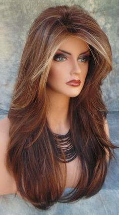 Handmade Lace Front Wigs New Fashion Charm Women's Long Light Brown Full Wig  | Health & Beauty, Hair Care & Styling, Hair Extensions & Wigs | eBay!