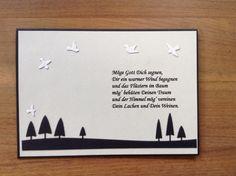 Trauerkarte mit Spruch