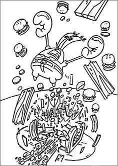 Svampebob Tegninger til Farvelægning 60