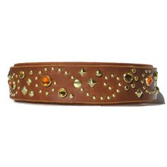 The Stargazer is always one of a kind. Each hand made leather dog collar has unique variation while keeping our signature swirl theme framed by plenty of accent studs and your choice Dog Collars & Leashes, Leather Dog Collars, Leather Belts, Leather Bracelets, Collar And Leash, Neck Collar, Custom Leather, Handmade Leather, Jewel Colors
