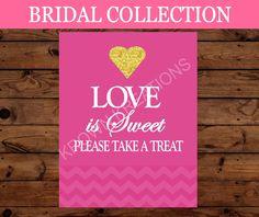 BRIDAL SHOWER - Bridal Love Is Sweet SIGN- Wedding